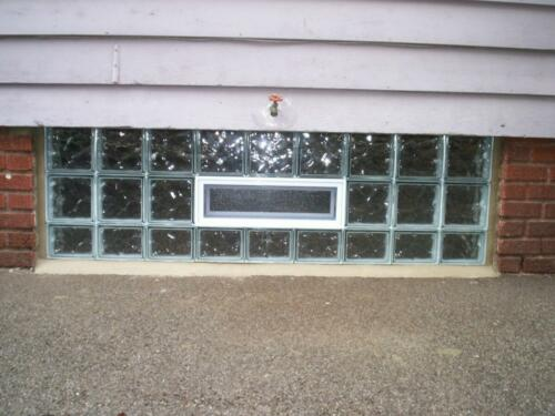Large Vented Ice Pattern Window