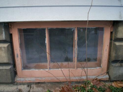 Typical Basement Window circa 1910-1930